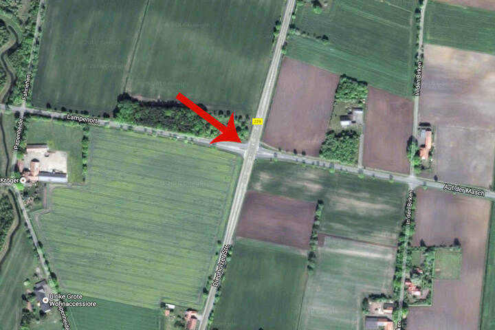 An dieser Kreuzung sorgen momentan Bauampeln dafür, dass der verkehr zumindest einigermaßen fließt.
