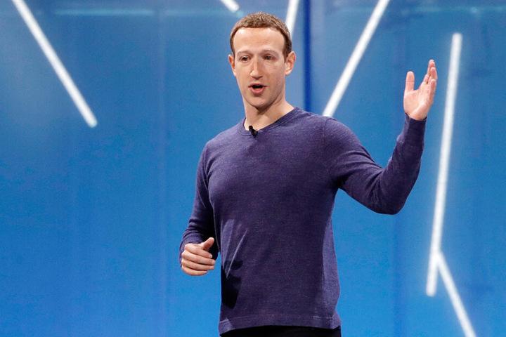 Mark Zuckerberg, Vorstandsvorsitzender von Facebook, spricht auf der Facebook-Entwicklungskonferenz F8. Recrop. (Archivbild)