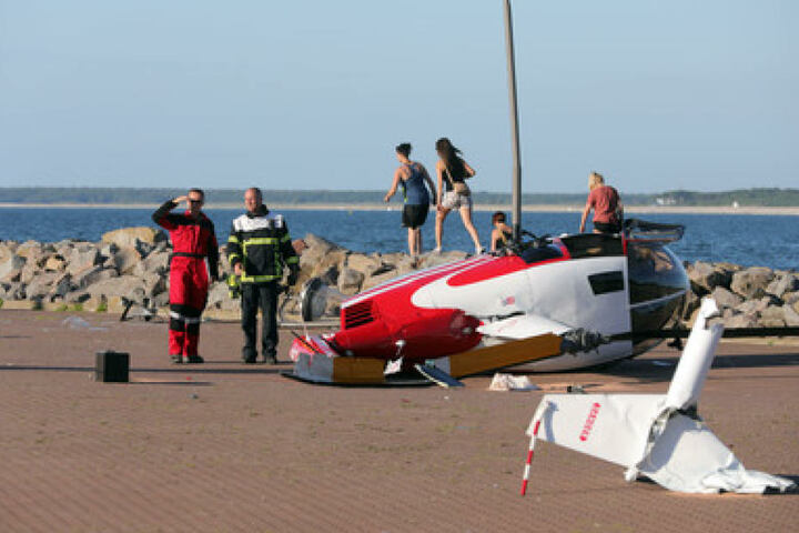 Durch das Unglück wurden drei Menschen verletzt.