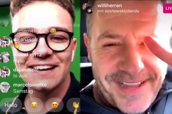 Willi Herren beantwortet, in einem Live-Interview bei Instagram, die Fragen von TAG24.