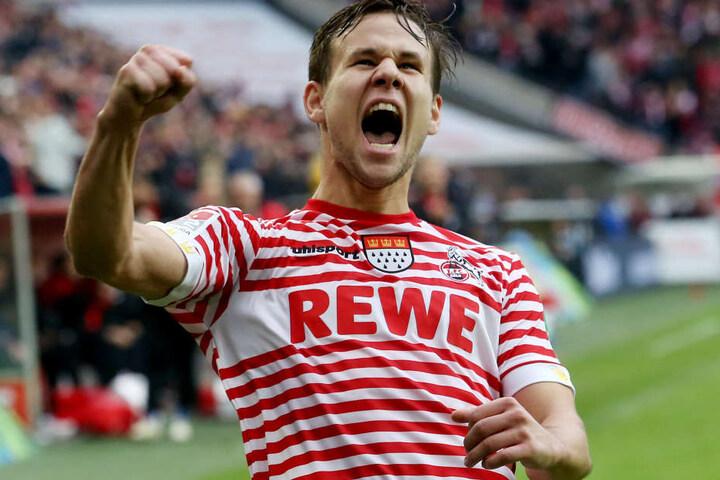 Louis Schaub bejubelt sein Traumtor gegen Dynamo Dresden (10. November)