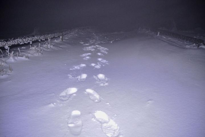Die Schneedecke erreichte eine Höhe von bis zu zwölf Zentimetern.