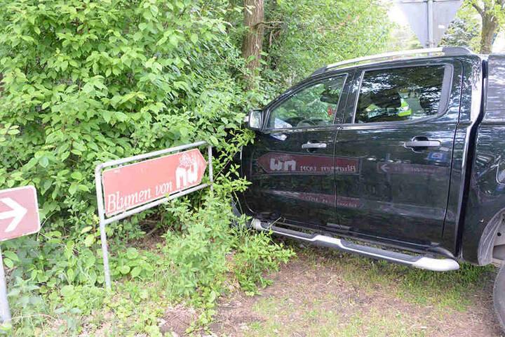 Der 56-jährige Autofahrer kam mit seinem Ford Pickup nicht weit.