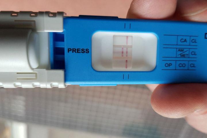 Ein Drogentest schlug positiv auf Amphetamine an.
