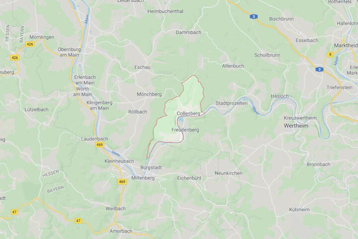 Der Unfall ereignete sich auf einer Bahnstrecke in Collenberg.