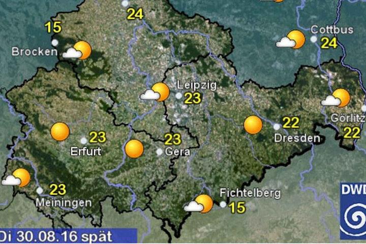 Der Deutsche Wetterdienst prognostiziert auch diese Woche sommerliche Temperaturen