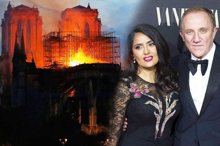 Francois-Henri Pinault ist mit Salma Hayek verheiratet. Er spendet mit seinem Vater 100 Millionen Euro für den Wiederaufbau der Eglise Notre-Dame.