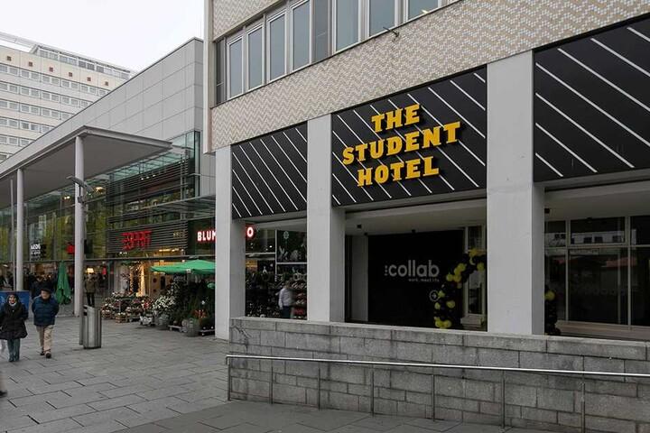 """Das """"Student Hotel"""" an der Prager Straße steht nicht nur Studenten, Hotelgästen und Geschäftsleuten zur Verfügung, sondern allen Einwohnern der Stadt."""