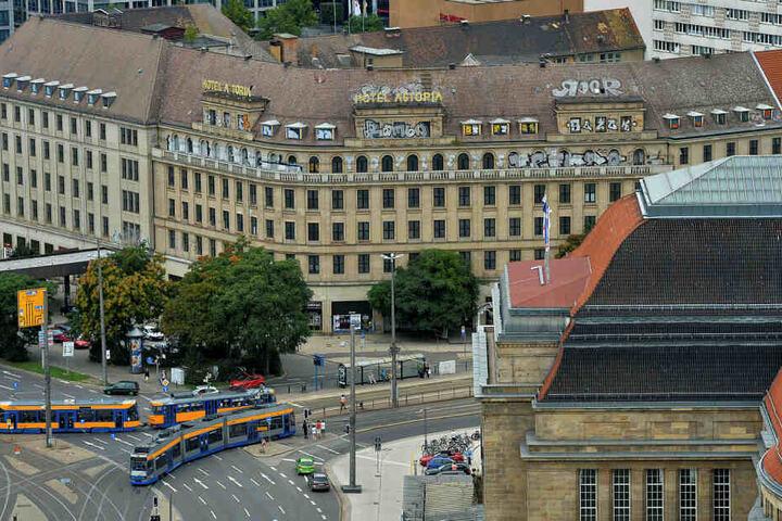 Die Italienerin Valentina übernachtete im Best Western Hotel neben dem im Umbau befindlichen Astoria, holte den Ausreißer von den Straßenbahngleisen.