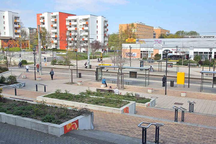Am Amalie-Dietrich-Platz im Stadtteil Gorbitz geschah die Tat.