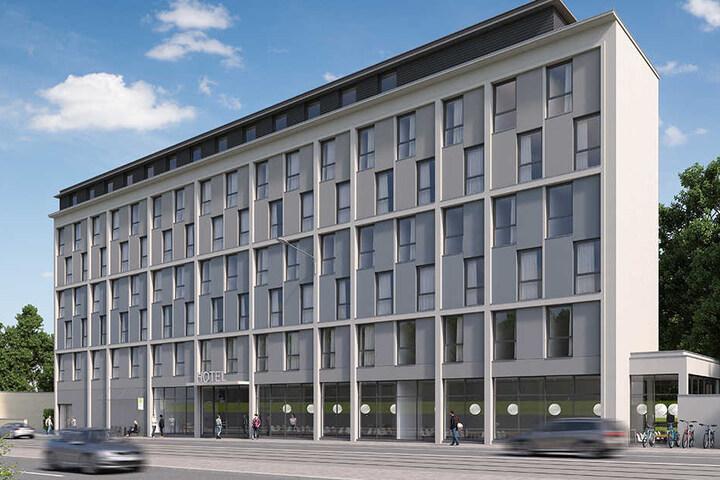Wird der Baustopp aufgehoben, könnte dieses Hotel gebaut werden.