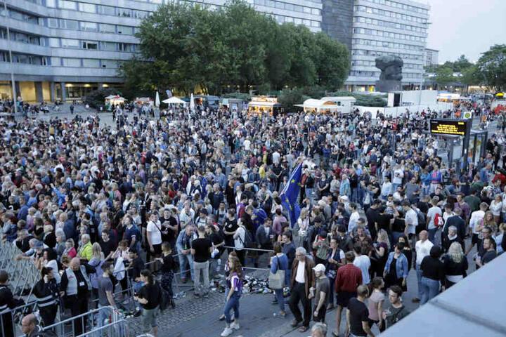 Insgesamt waren rund 50.000 Besucher beim Kosmos Chemnitz - #wirbleibenmehr-Festival dabei.