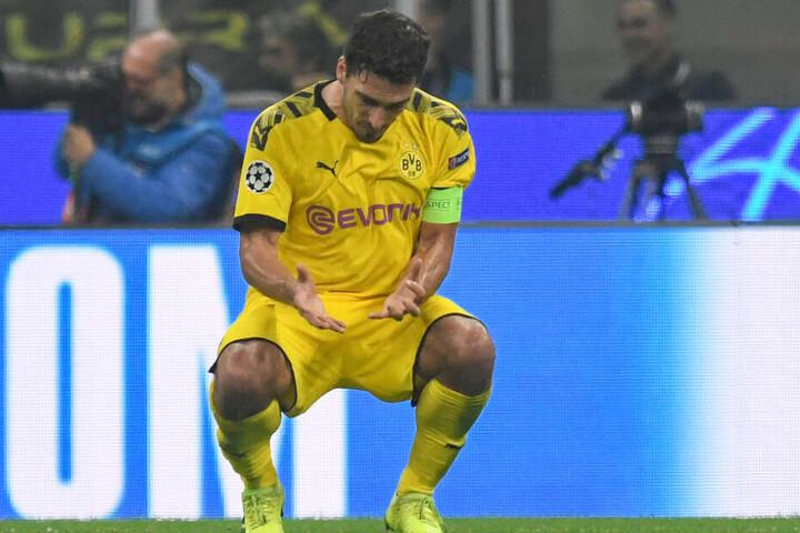 Frustrierende Woche für Mats Hummels: Erst die Niederlage in Mailand, dann die Aussage von Bundestrainer Löw.