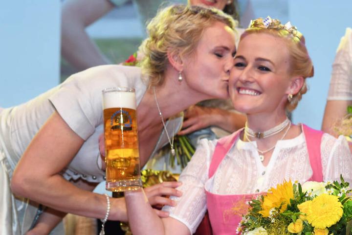 In einem spannenden Finale konnte sich Veronika Ettstaller (r.) gegen sechs Konkurrentinnen durchsetzen.