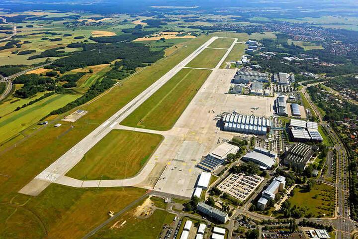 Dresdens Flughafen von oben. Derzeit werden 42 Ziele in 18 Ländern angeflogen.