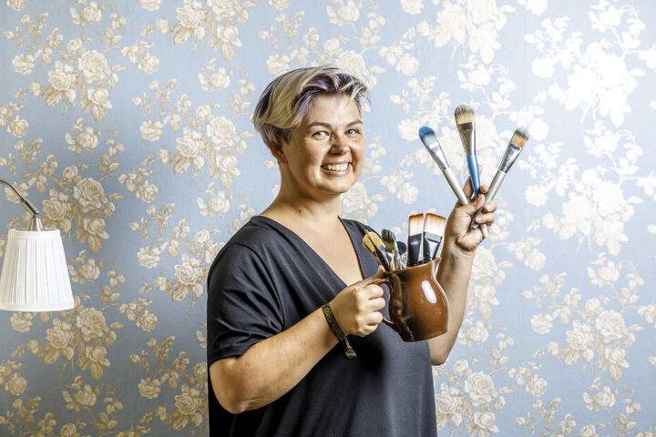 Schon dreimal trat Künstlerin Silke Kirchhoff bei der Bodypaint-Weltmeisterschaft an und malte sich aufs Treppchen.