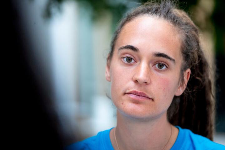"""Carola Rackete, Seenotretterin von Flüchtlingen, Klimaaktivistin und frühere Kapitänin der """"Sea-Watch 3""""."""