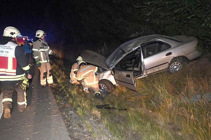 Alle vier, die im Auto saßen, wurden in ein Krankenhaus gebracht.