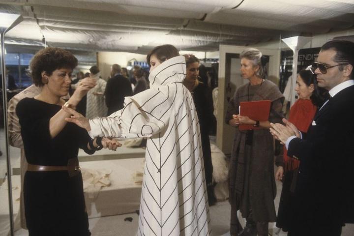 Fendi mit Karl Lagerfeld (rechts). Er war als Chefdesigner der Luxusmarke verpflichtet worden.