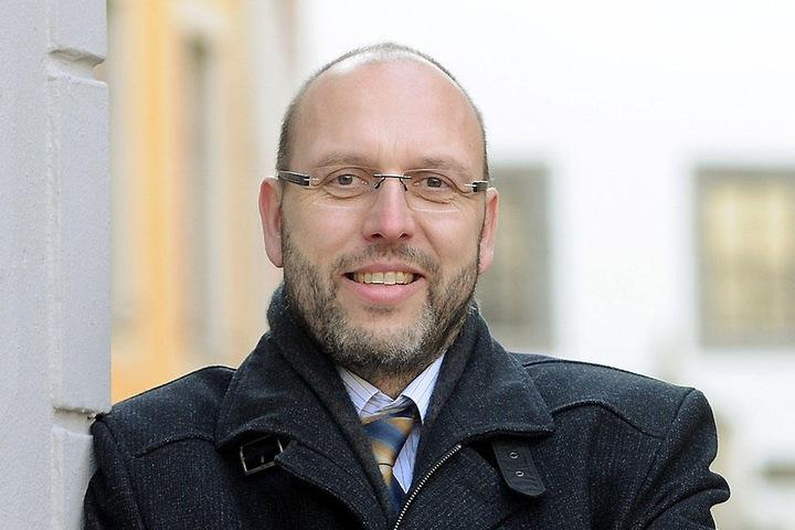 Olaf Raschke (53, parteilos), OB der Stadt Meißen, freut sich über die Idee seines Stadtmarketings.