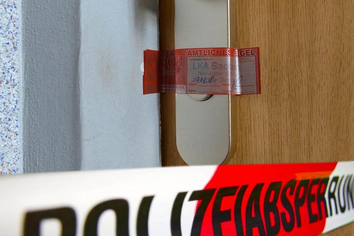 Die Tür der Wohnung von Eduardo A. ist versiegelt.