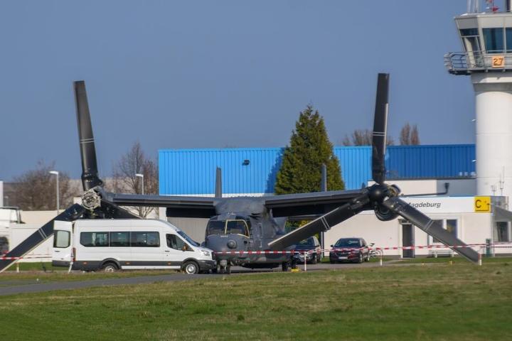 Am Mittwoch war die Bell-Boeing V-22 gelandet.