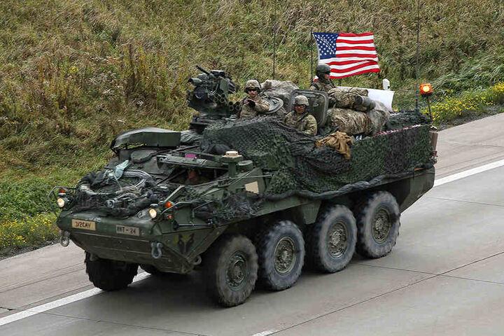 Mit wehender Fahne rückte der Stryker-Radschützenpanzer nach Polen vor.