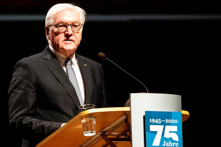 Frank-Walter Steinmeier sprach im Kulturpalast.