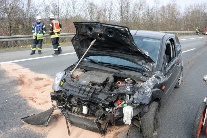 Die 21-Jährige wurde bei dem Unfall leicht verletzt.