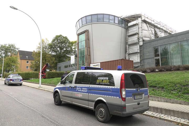 Am Mittwoch bewachte die Polizei auch die Chemnitzer Synagoge.
