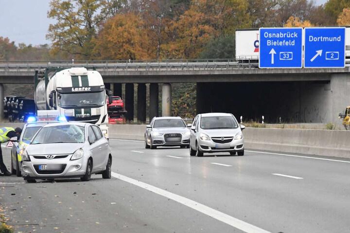 Die Autobahn musste aufgrund des Unfalls nicht gesperrt werden.