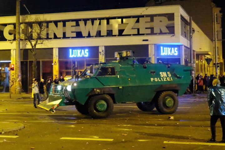 Die Polizei ging rigoros gegen die Chaoten vor.