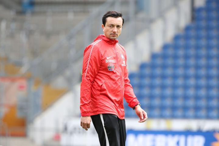 Aues Cheftrainer Daniel Meyer wurde beurlaubt.