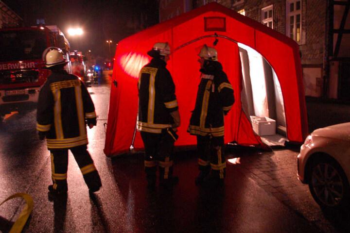 Ein Großaufgebot der Feuerwehr rückte in Höxter an.