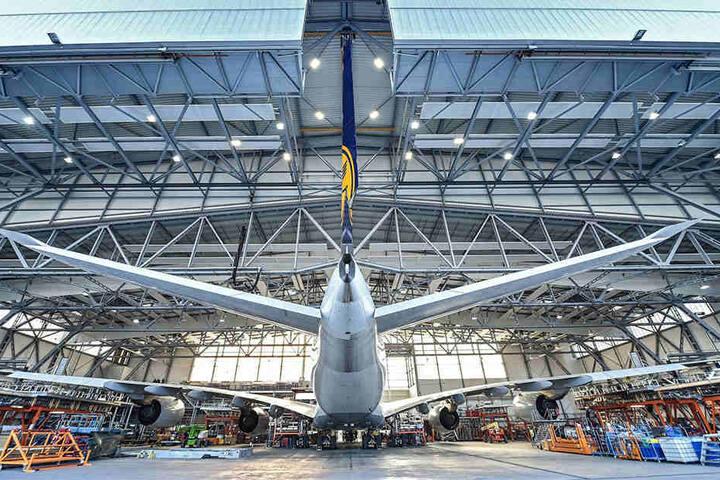 Bei den Elbe Flugzeugwerken in Dresden werden auch Jets gewartet - auch der Riesenvogel A380.