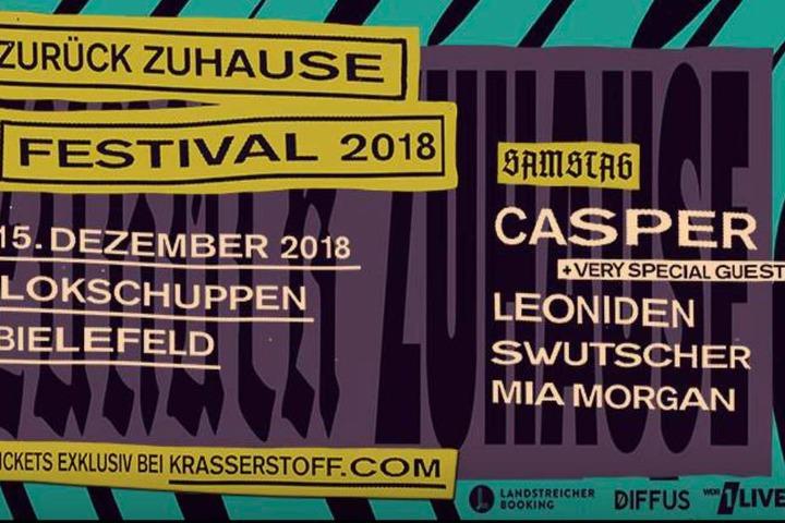 Auch in diesem Jahr findet das Zurück Zuhause Festival von Casper im Lokschuppen statt.