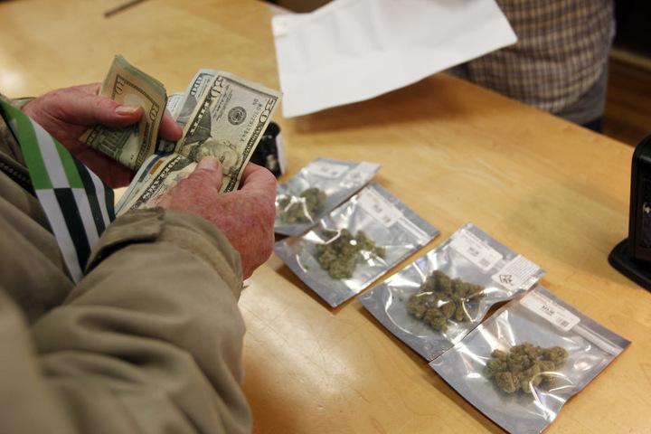 Der Andrang nach Cannabis war groß.