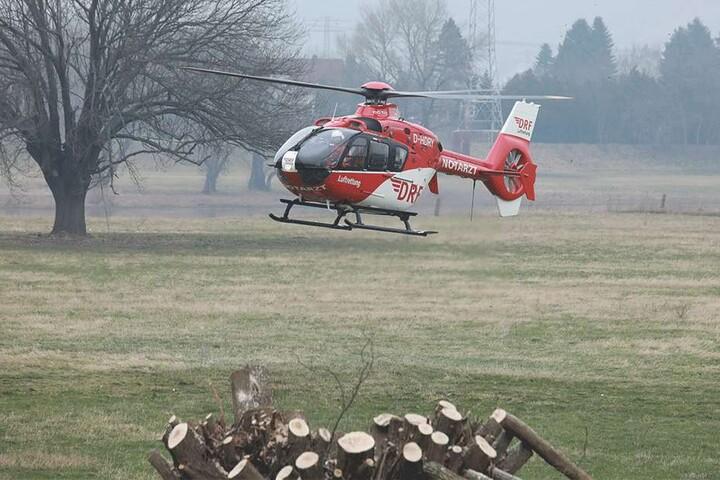 Per Rettungshubschrauber wurde er in die Klinik geflogen.