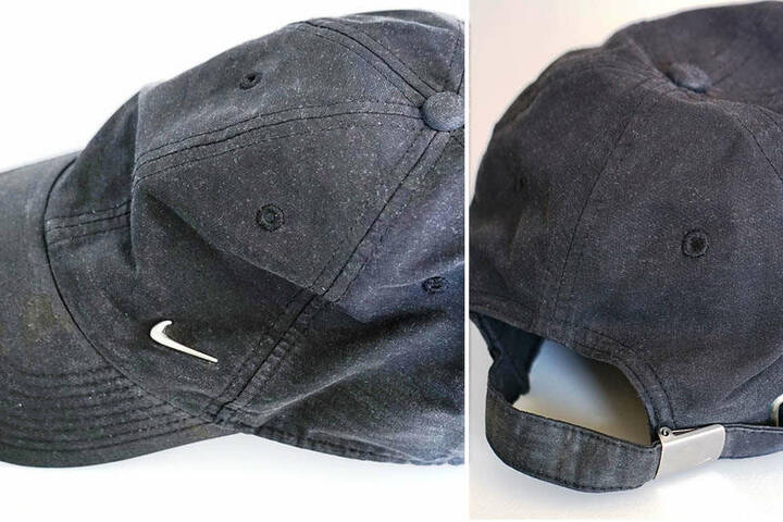 Dieses markante Basecap verlor der Täter auf der Flucht. Es ist ein blaues Stoff-Cap und hat ein Nike-Abzeichen aus Metall.