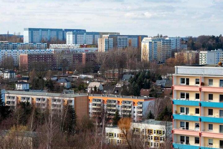 Blick auf Chemnitz Hutholz: Hier gab es die meisten AfD-Wähler.