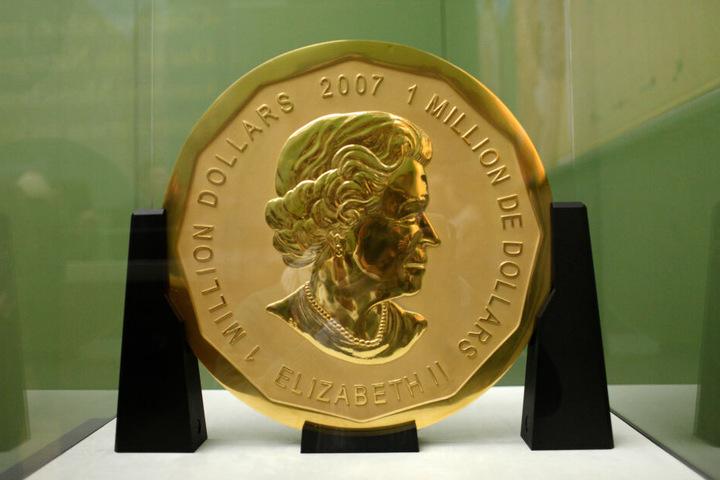 Die rund 100 Kilo schwere Goldmünze wurde aus dem Bode-Museum geklaut.