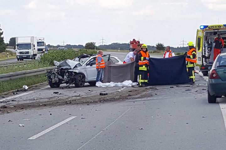 Am Dienstagnachmittag kam es zu einem schweren Unfall auf der A4 bei Burkau.