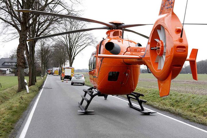 Per Rettungshubschrauber wurde er in ein Krankenhaus geflogen.