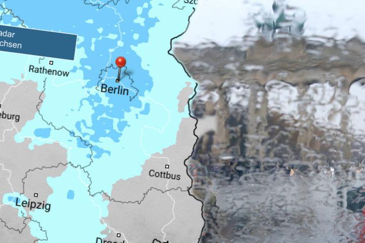 Am Sonntag wird es nass: Berliner, bereitet euch am Sonntag auf Regen vor. (Bildmontage)