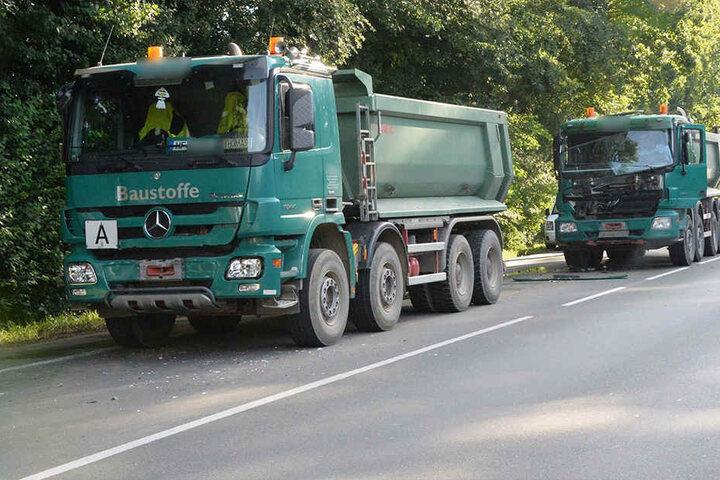 Die beiden Trucks aus Hiddenhausen fuhren auf die rote Ampel zu.