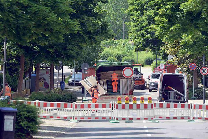 Ende dicht: Seit Dienstag ist die Weststraße ab Kochstraße voll gesperrt.