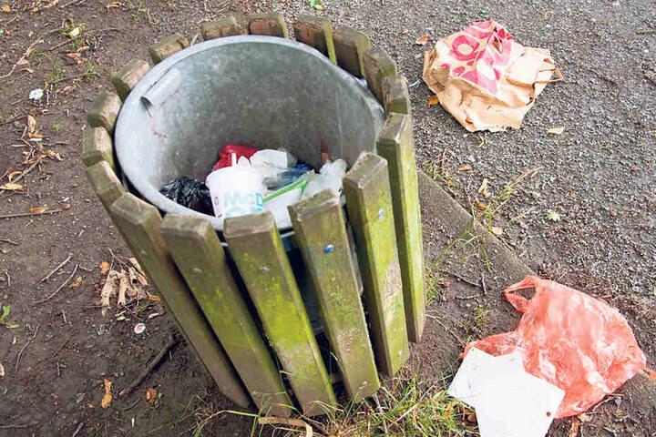 Das Müllproblem am Schlossteich hat die Stadt auch noch nicht in den Griff bekommen.