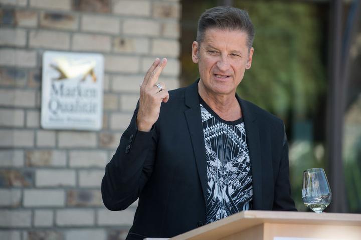 Hartmut Engler, Sänger der Band Pur bei einer Veranstaltung. Er kritisiert den Stil von Farid Bang und Kollegah.