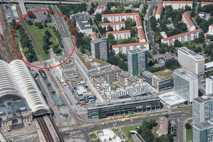 Dieses Gelände beim Hauptbahnhof will Investor Simmel bebauen.