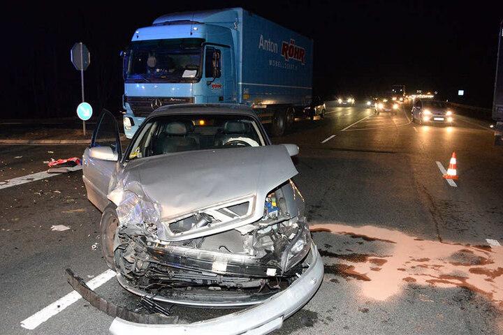 Der Opel des 72-jährigen Rentners war nach dem Crash nur noch Schrott.